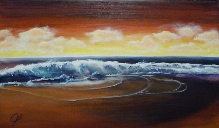 Non ho idea di cosa mi ha spinto a dipingerlo, volevo solo un tramonto e il mare. Maestoso o potente. Niente lo turba niente lo ferma nella sua forza. Viò  Assieme alle mie opere viene rilasciata Dichiarazione di … Continued