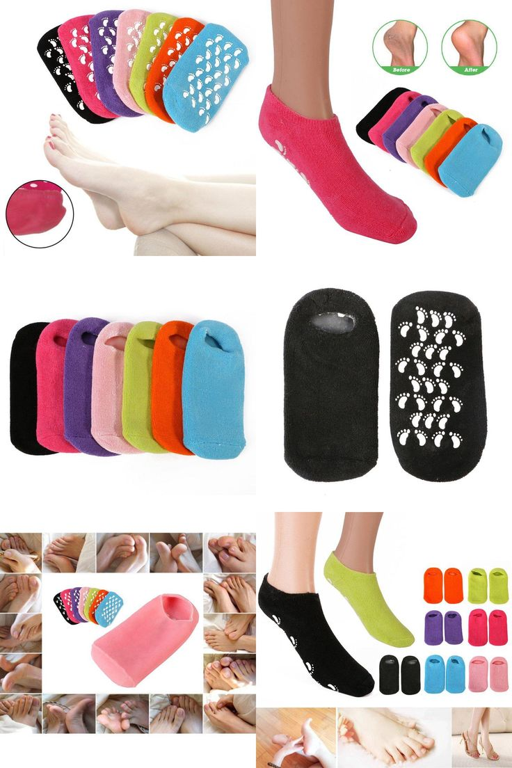 [Visit to Buy] Whitening Exfoliating Foot Mask Gloves Spa Gel Socks Moisturizing Hand Mask Feet Care Ageless Beauty Silicone Socks J2 V2 #Advertisement