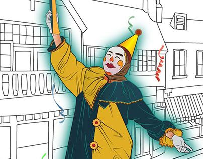 "Check out new work on my @Behance portfolio: ""party clown"" http://be.net/gallery/38211637/party-clown"