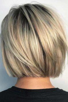 Kurz und frech Blunt Bob Haircut # Bobhairschnitte…
