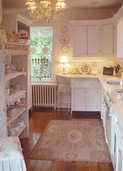 Now that's a romantic kitchen! Should have a pale pink refrig and stove, in my opinion ;-)
