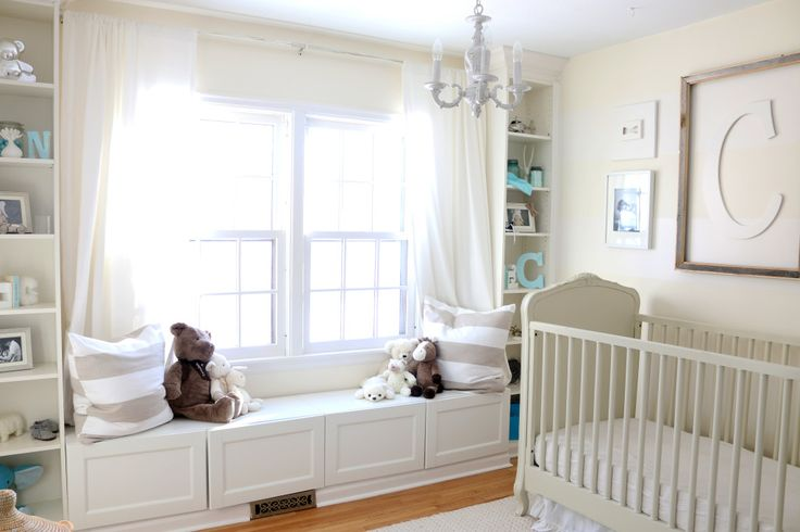 Cream and White Nursery with Pops of Blue - Project Nursery