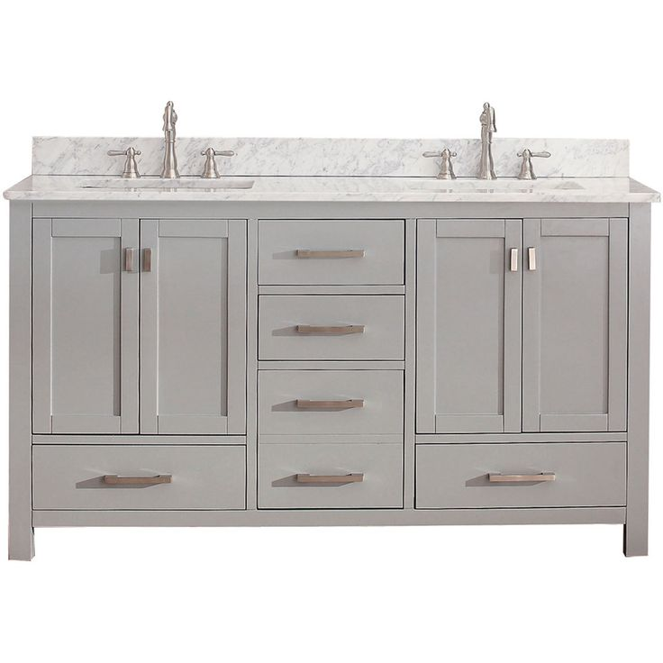 Digital Art Gallery Love this double all in one vanity for the mastery bathroom Great use of drawers Modero Chilled Gray Inch Double Vanity Only Avanity Vanities Bathroom