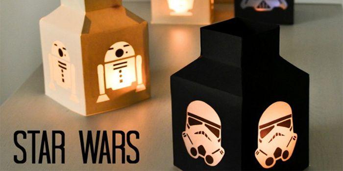 Manualidades de Star Wars linternas de luz led