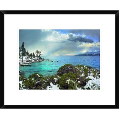 """Global Gallery Memorial Point, Lake Tahoe, Nevada by Tim Fitzharris Framed Photographic Print Size: 18"""" H x 22"""" W x 1.5"""" D"""