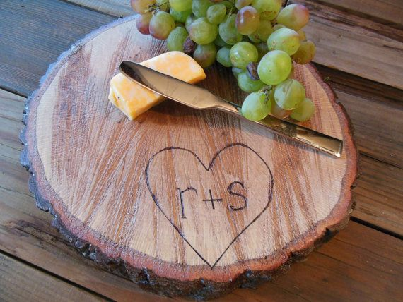 WOOD Cheese Plate 912 inch  Table Decor   Wedding by theGypsybird