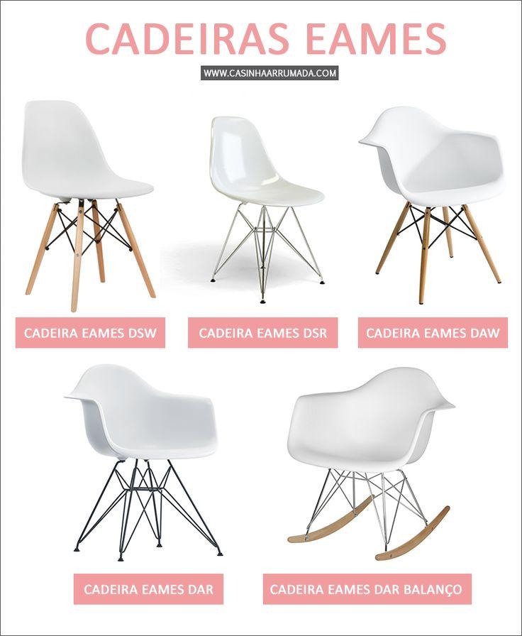 Cadeiras Eames na decoração - Casinha Arrumada