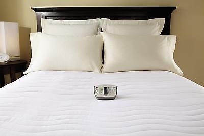 Heated Mattress Pad Therapeutic Electric Queen Size Wireless Control Bedding New