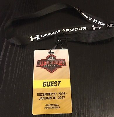 2017 Under Armour All America Game Guest Pass Lanyard VIP Ticket Guest American
