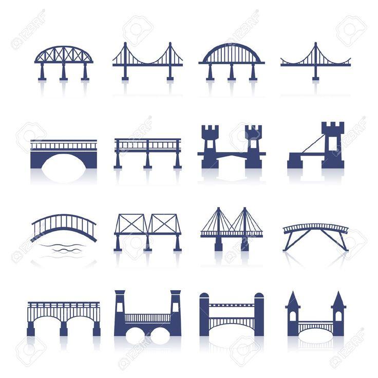 29000127-Bridge-architecture-city-landmark-silhouette-icon-set-isolated-vector-illustration-Stock-Vector.jpg (1300×1300)