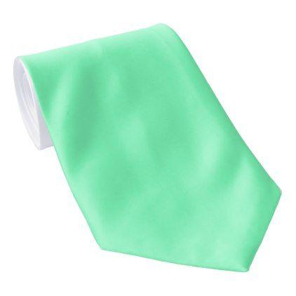 OPUS 1111 Pastel Spring Green Tie - plain gifts style diy cyo
