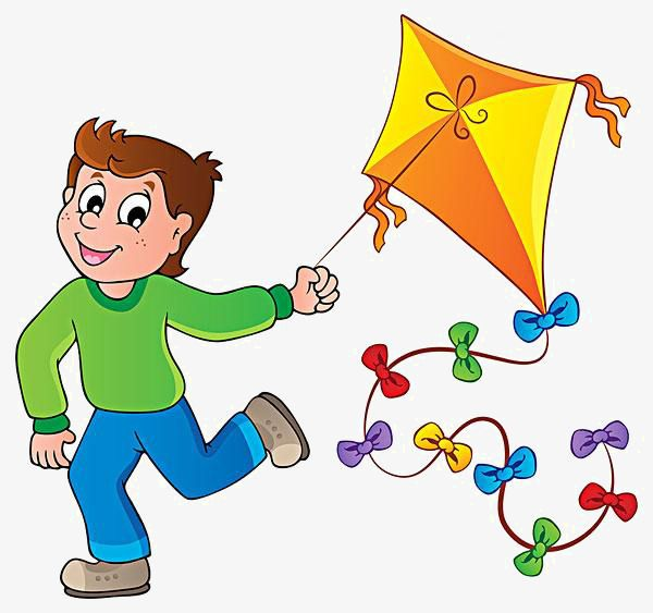 Cartoon Boy Kite Flying Cartoon Clipart Boy Clipart Cartoon Png