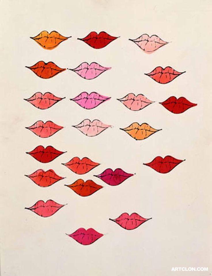 Andy Warhol, lips, kiss