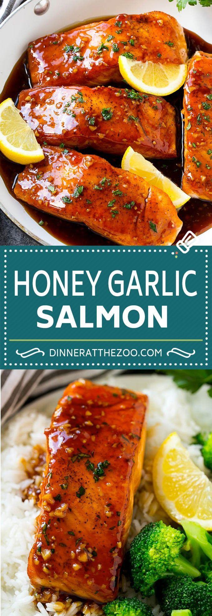 Honey Garlic Salmon Recipe | Asian Salmon Recipe | Healthy Salmon Recipe http://cookingmagic.net/category/recipes