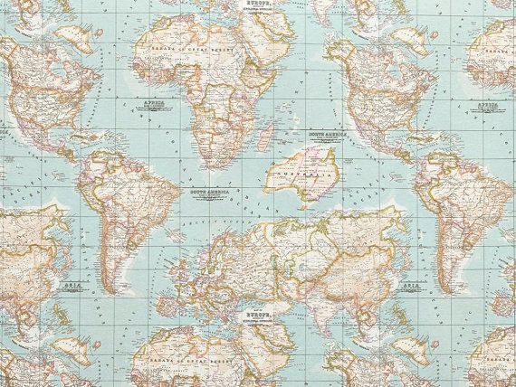 25 unique world map fabric ideas on pinterest us world map map world map fabric map fabric half metre half yard by thedutchloft sciox Choice Image