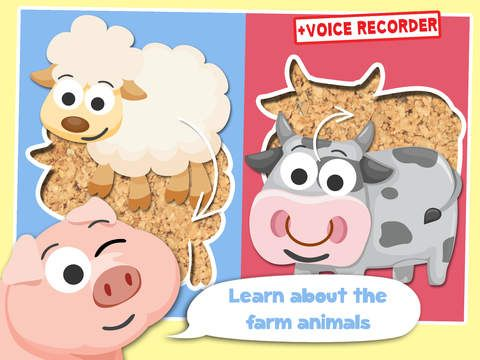Play with Farm Animals Cartoon Jigsaw Game for toddlers and preschoolers by Banana Apps Kids - best top fun games for 1 school 2 boys 3 baby 4 girls and 5 mini toddlers leuke spelletjes voor jongens meisjes kinderspelletjes