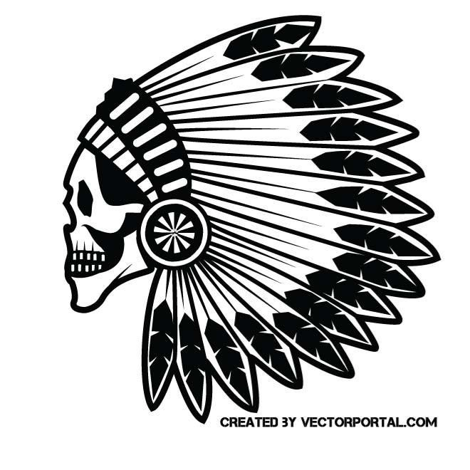 Indian Chief Skull Vector Image Indian Chief Skull