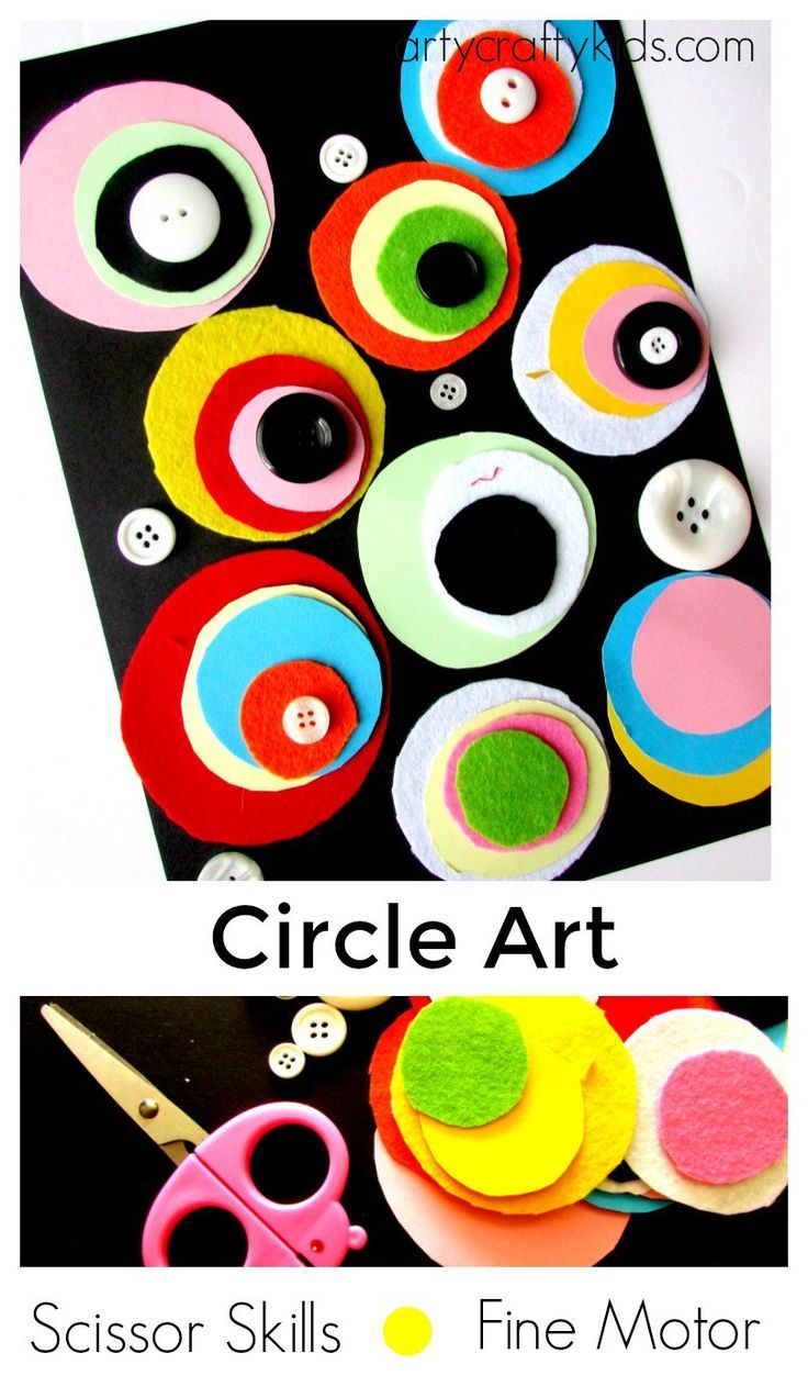 Arty Crafty Kids - Play - Scissor Skills - Fine Motor Circle Art
