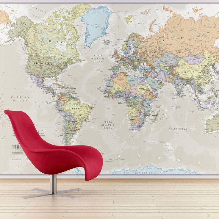Best 25 giant world map ideas on pinterest best world map maps giant classic world map mural gumiabroncs Choice Image