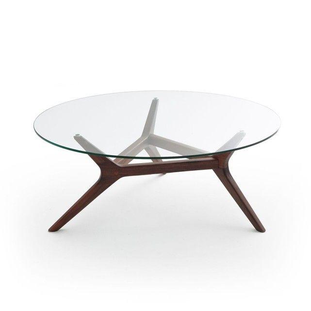 Table Basse Noyer O90 Cm Maricielo Table Basse Carree En Verre Table Basse Table Basse En Noyer