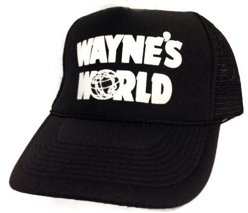 Wayne's World Hat cap adjustable new Black rapid Same day PROCESSING #Unbranded #TruckerHat