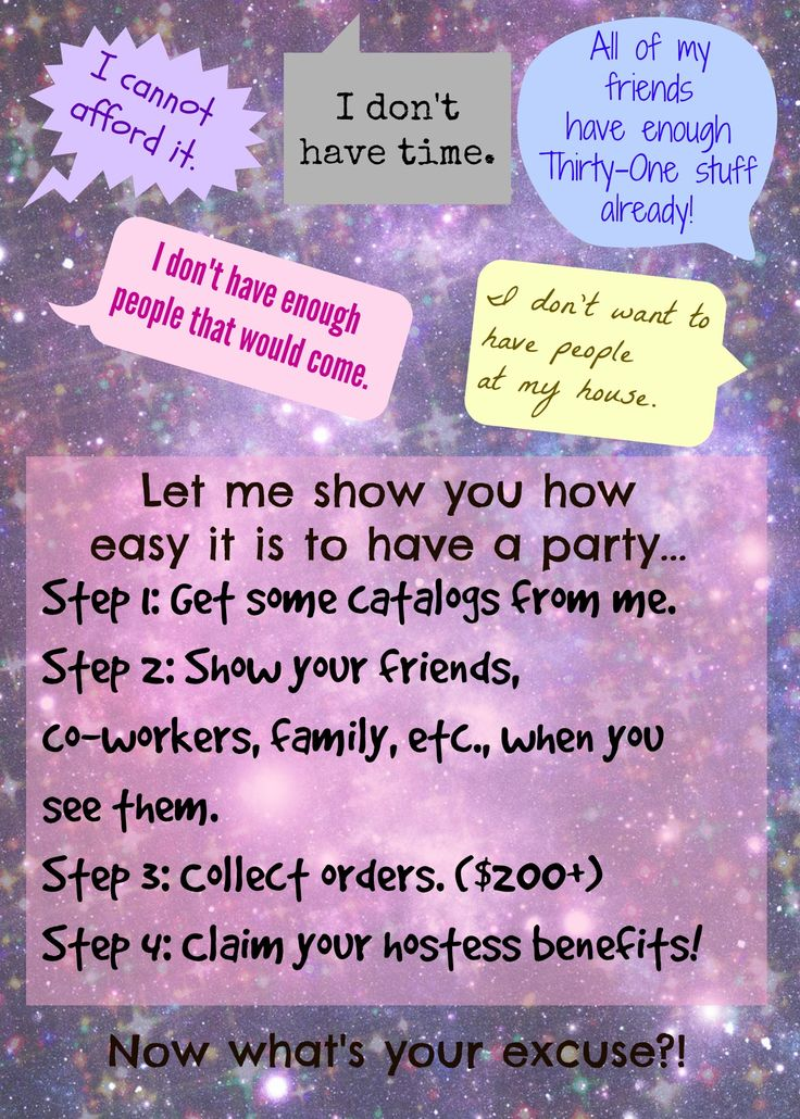 Don't live near me? Don't have a lot of free time? Still no excuse not to have a party! Trust me, we can always find a way to work something out!