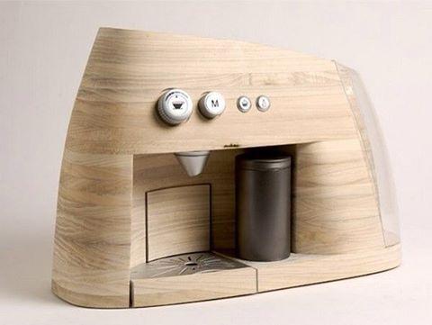 Original wooden espresso machine by Oystein Helle Husby  #wood #woodworking #woodwork #wooden #woodcraft #woodporn #rustic #liveedge #custommade #handmade #woodworkforall #woodart #bois #homedecor #furnituredesign #dowoodworking #holz #interiordesign #carpentry #carpenter #design #decor #finewoodworking #bespoke #woodgrain #madera #maderia #reclaimedwood #customwoodwork