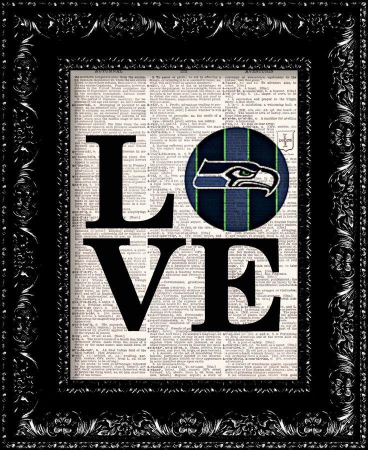 BOGO  Seattle Seahawks LOVE NFL Football by TheRekindledPage, $8.98