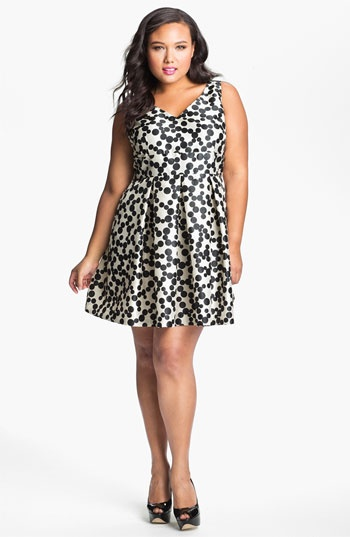 Taylor Dresses Polka Dot Fit & Flare Dress available at Nordstrom