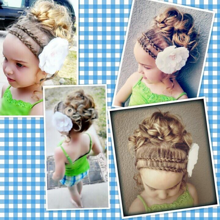little girl updo hair pinterest