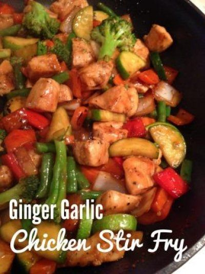 Ginger Garlic Chicken Stir Fry by Spoonful at a Time