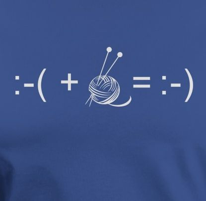 Knitting makes me happy equation - #ad Available on tshirts, etc