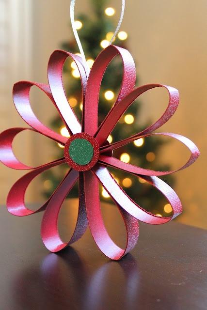 Irish Italian Blessings: Scrapbook Paper Flower Ornaments Tutorial