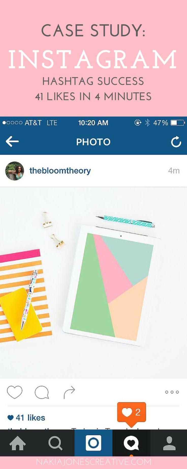 Case Study: Instagram Hashtag Success - 41 likes in 4 minutes - Nakia Jones…