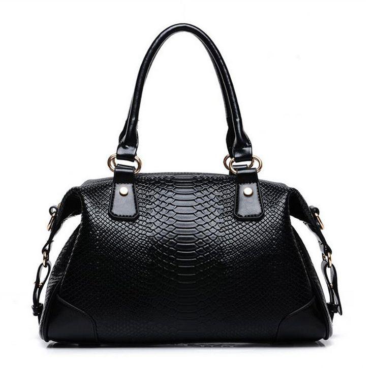 Elegant (Crocodile Grain) Genuine Leather Bag from sheerFAB.com