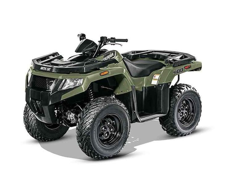 New 2016 Arctic Cat Alterra 400 ATVs For Sale in Michigan. 2016 Arctic Cat Alterra 400, 2016 Arctic Cat® Alterra 400 Features May Include: Ride-In Suspension This mid-sized machine provides big performance with 10 inches of ground clearance and seven inches of suspension travel. Trail bumps are what this machine eats for breakfast, lunch or dinner. 400 H1 4-Stroke Engine There s nothing mid-sized about this single-cylinder, air/oil-cooled, 366cc 4-stroke engine. The combination of this…