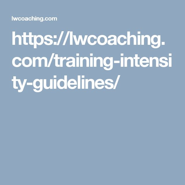https://lwcoaching.com/training-intensity-guidelines/