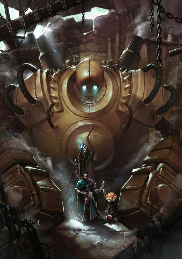 Blitzcrank, Heimerdinger and Viktor League Of Legends Fan Art | art-of-lol.com
