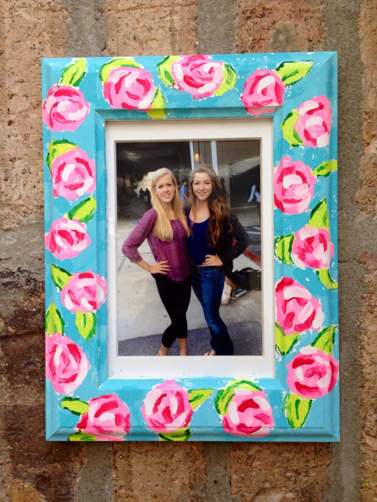 Lilly Pulitzer DIY picture frame! #lilly
