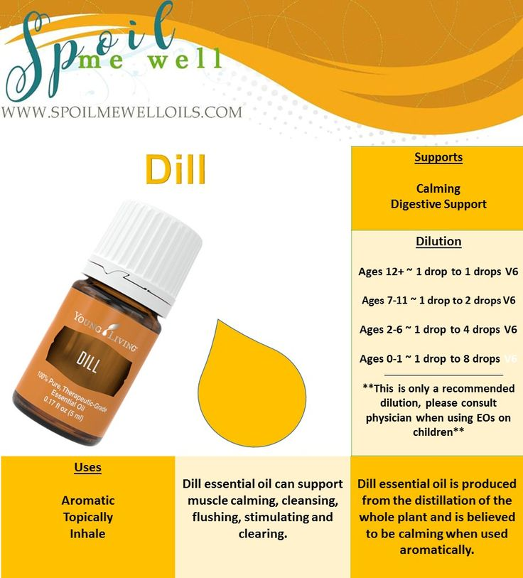 Dill Essential Oil, Young Living Essential Oils, all natural living, dilution ratios