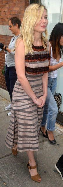 Who made Kirsten Dunst's print dress that she wore in New York on September 11, 2012? Dress – Rodarte