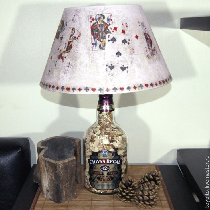 """Купить Светильник настольный """"Виски"""" 01 - лампа, светильник, подарок, интерьер, световое оформление"""