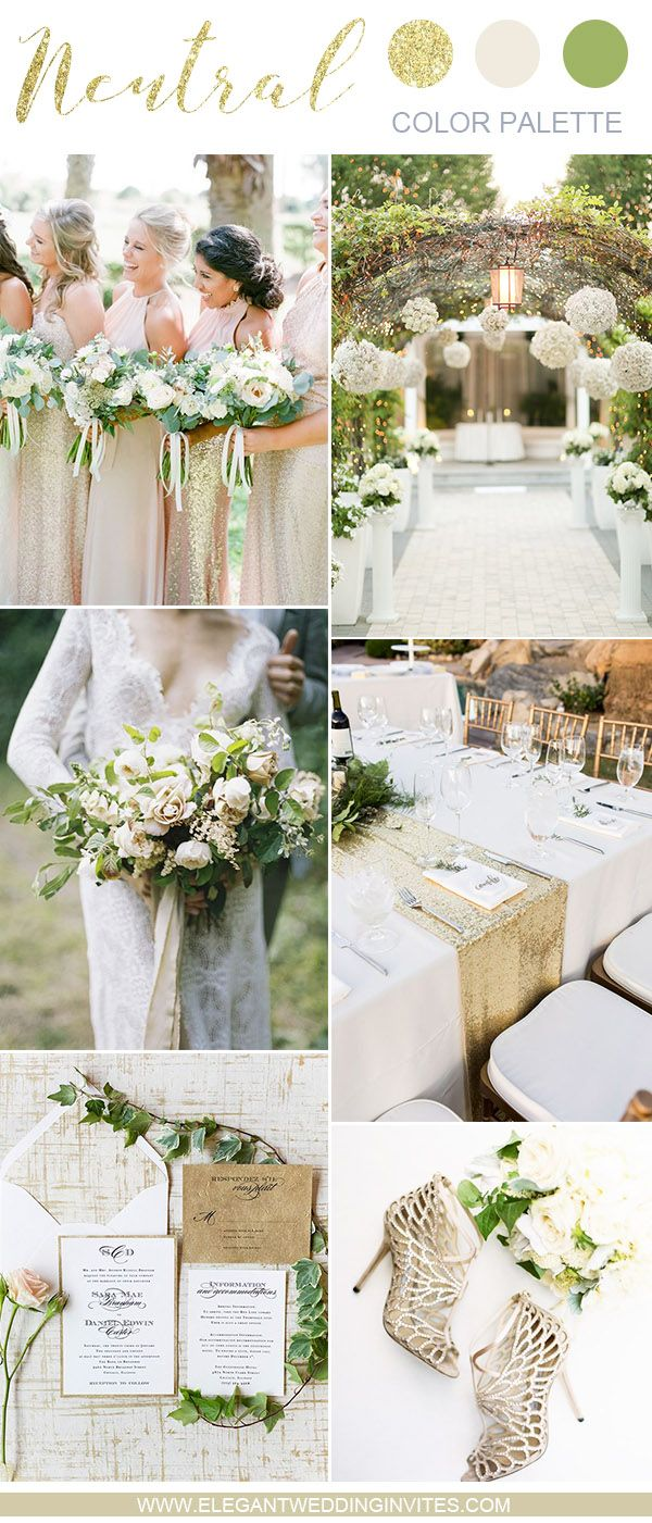 10 Swoon Worthy Neutral Wedding Color Palette Ideas Elegantweddinginvites Com Blog August Wedding Colors Wedding Colors Neutral Wedding Colors