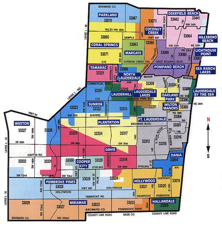 Broward Zip Code Map