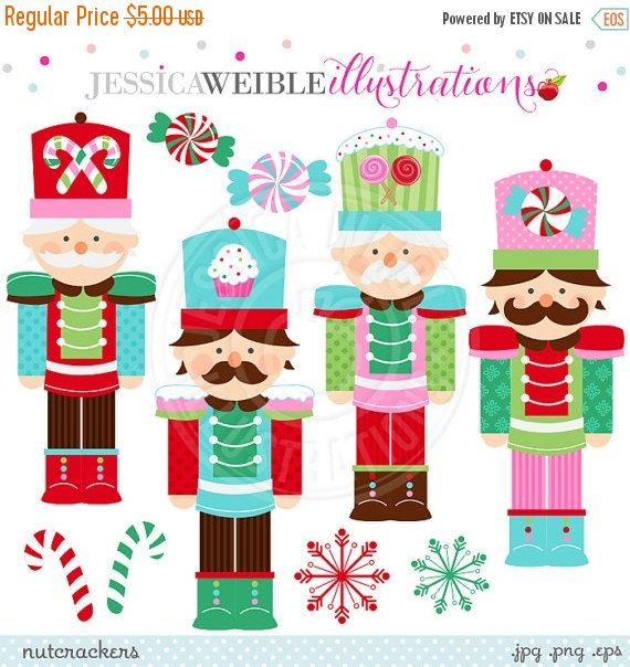 SALE Nutcracker Cute Digital Clipart for by JWIllustrations