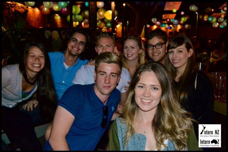 This is a group photo from our Wellington social last weekend! #internships #newzealand #wellington