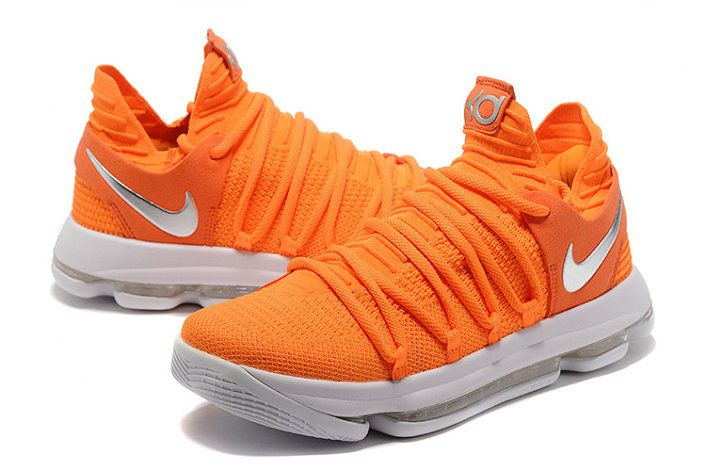 on sale b968c 11efa New Colorway KD 10 Authentic X Max Orange Silver | shoes ...
