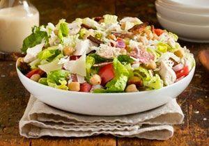 Рецепт №1: Итальянский салат с чесночной заправкой