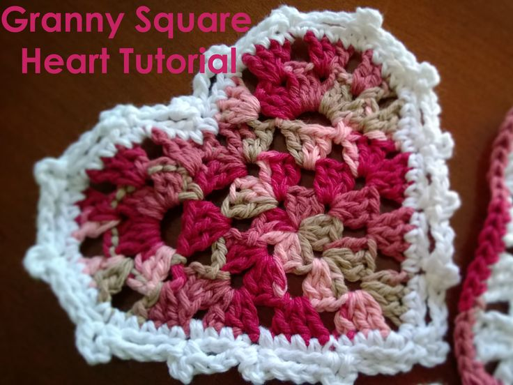 Crochet Granny Square Heart Patterns : 1510 best images about CROCHET HEARTS on Pinterest Free ...