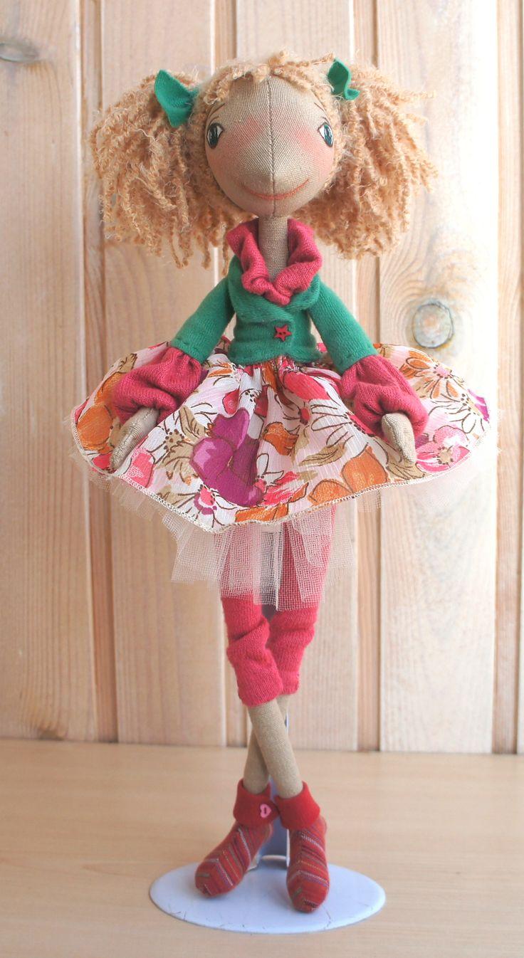 Кукла текстильная ручная работа  Дашенька  Fiva